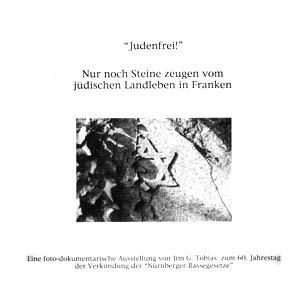 """Titelbild """"Judenfrei"""" des Ausstellungskatalogs"""